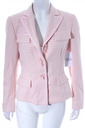 STIFF Blazer rosa-hellgelb Karomuster Business-Look