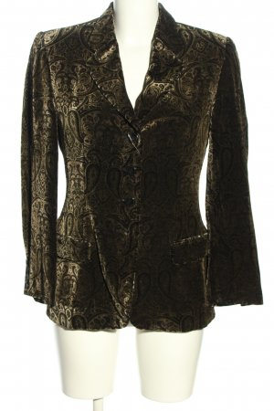 STIFF Kurz-Blazer braun-schwarz abstraktes Muster Casual-Look