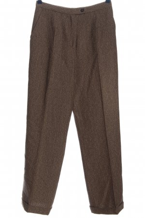 STIFF Woolen Trousers brown casual look