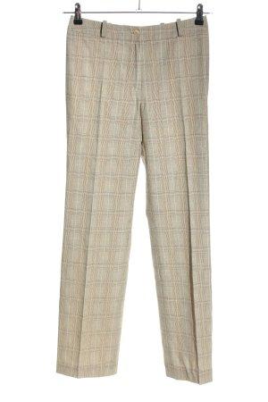 STIFF Pantalon en laine gris clair-crème motif à carreaux style décontracté