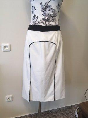 Apart Falda de tubo blanco-negro