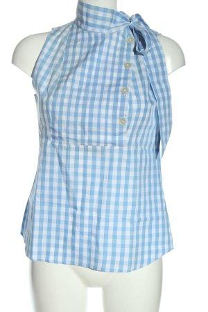 Stile Benetton ärmellose Bluse blau-weiß Allover-Druck Casual-Look