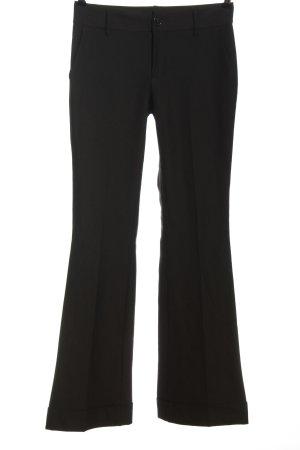 Stile Benetton Luźne spodnie czarny W stylu biznesowym