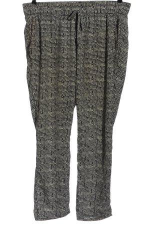 Stile Benetton Baggy Pants weiß-schwarz Allover-Druck Casual-Look