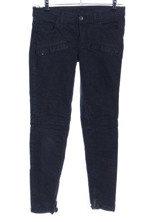 Stile Benetton Jeans da motociclista nero stile casual