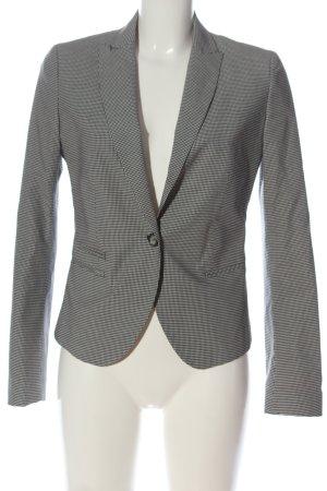 Stile Benetton Boyfriend-Blazer weiß-schwarz Allover-Druck Business-Look