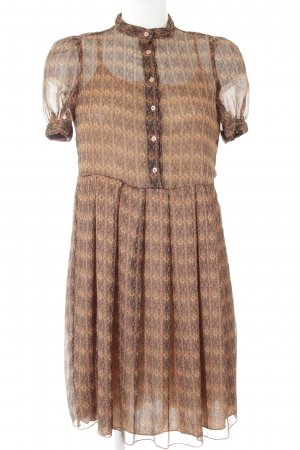 Stile Benetton Chiffonkleid abstraktes Muster Casual-Look