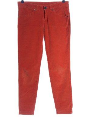 Stile Benetton Corduroy broek rood casual uitstraling