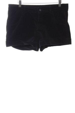 Stile Benetton Pantalon en velours côtelé noir style décontracté