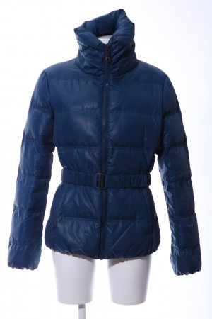 Stile Benetton Daunenjacke blau Steppmuster Casual-Look