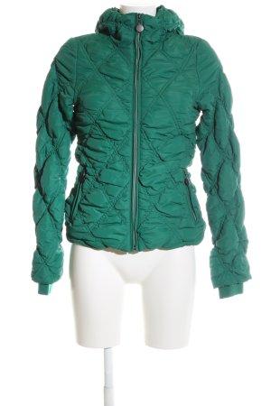 Stile Benetton Daunenjacke grün Steppmuster Casual-Look