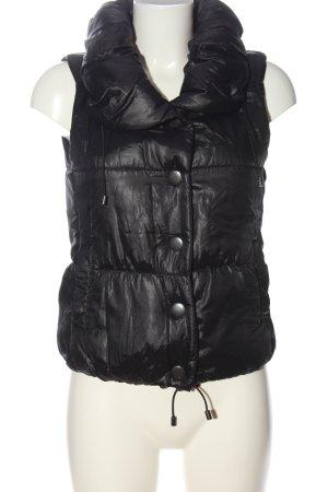Stile Benetton Gilet en duvet noir motif de courtepointe style décontracté