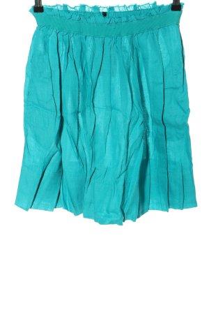 Stile Benetton Jupe à plis turquoise style décontracté