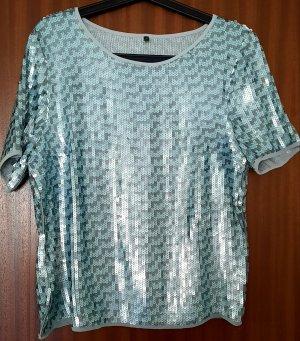 Stile Benetton glamouröses Pailletten-Shirt