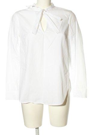Stile Benetton Hemd-Bluse weiß Business-Look