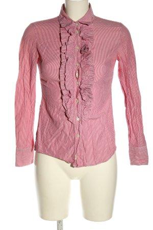 Stile Benetton Hemd-Bluse pink-weiß Streifenmuster Casual-Look