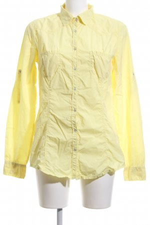 Stile Benetton Hemd-Bluse blassgelb Business-Look