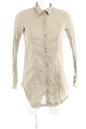 Stile Benetton Hemd-Bluse beige klassischer Stil