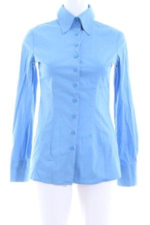 Stile Benetton Hemd-Bluse blau Business-Look
