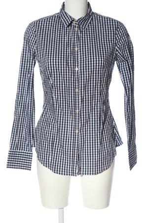 Stile Benetton Koszula w kratę czarny-biały W stylu casual