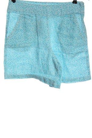 Stile Benetton Krótkie szorty biały-turkusowy Na całej powierzchni