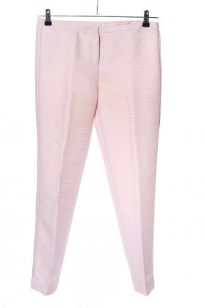 Stile Benetton Lage taille broek roze volledige print zakelijke stijl