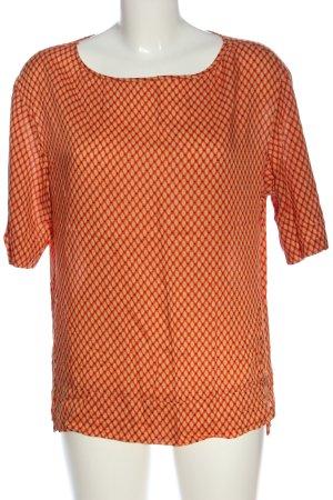 Stile Benetton Kurzarm-Bluse abstraktes Muster Casual-Look
