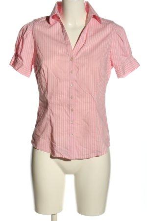 Stile Benetton Kurzarm-Bluse pink-weiß Allover-Druck Business-Look