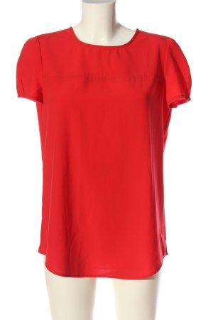 Stile Benetton Kurzarm-Bluse rot Casual-Look
