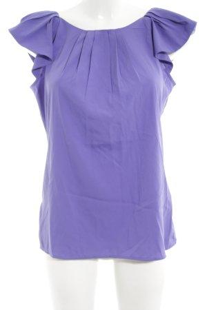 Stile Benetton Kurzarm-Bluse lila Casual-Look