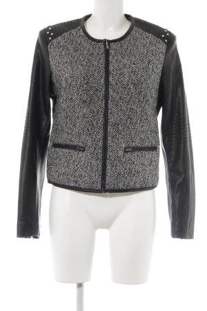 Stile Benetton Kurzjacke weiß-schwarz Business-Look