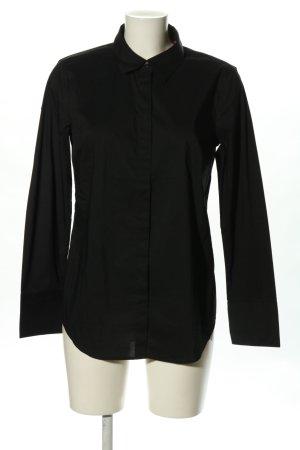 Stile Benetton Langarm-Bluse schwarz Business-Look