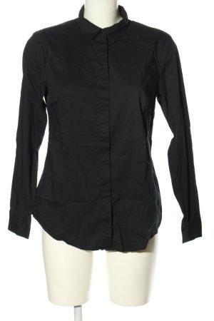 Stile Benetton Langarm-Bluse schwarz Casual-Look