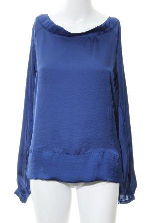 Stile Benetton Langarm-Bluse blau Elegant