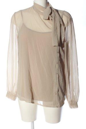Stile Benetton Langarm-Bluse wollweiß Elegant