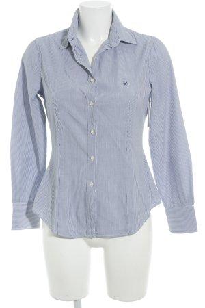 Stile Benetton Langarm-Bluse kornblumenblau-weiß Streifenmuster Casual-Look