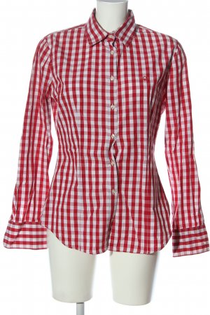 Stile Benetton Long Sleeve Shirt red-natural white check pattern casual look