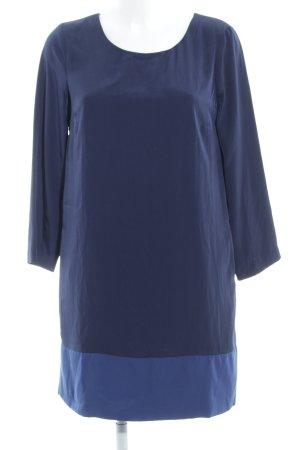 Stile Benetton Langarmkleid dunkelblau-stahlblau Casual-Look