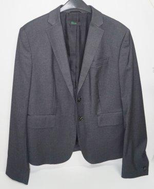 Benetton Lange blazer zilver Polyester