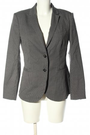 Stile Benetton Long-Blazer hellgrau Karomuster Business-Look