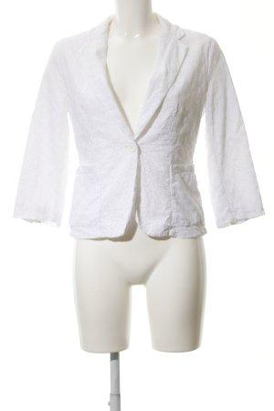 Stile Benetton Long-Blazer weiß Elegant