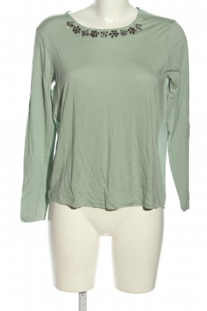 Stile Benetton Longsleeve khaki-silberfarben Casual-Look