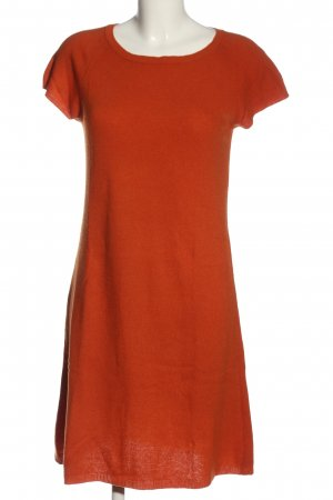 Stile Benetton Sweater Dress light orange cable stitch casual look