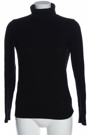 Stile Benetton Rollkragenpullover schwarz Business-Look