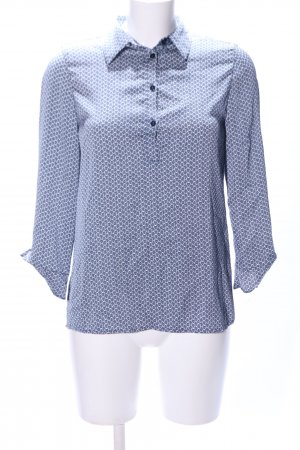 Stile Benetton Slip-over Blouse blue-white graphic pattern business style