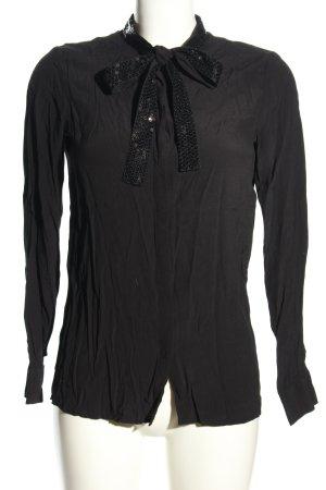 Stile Benetton Blouse avec noeuds noir style décontracté