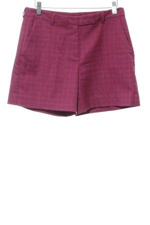 Stile Benetton Shorts neonrot-blauviolett Karomuster Street-Fashion-Look