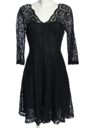 Stile Benetton Spitzenkleid schwarz Elegant