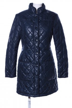 Stile Benetton Quilted Coat blue quilting pattern casual look