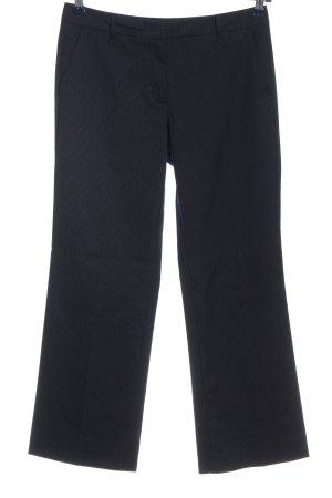 Stile Benetton Stoffhose schwarz-hellgrau Streifenmuster Business-Look